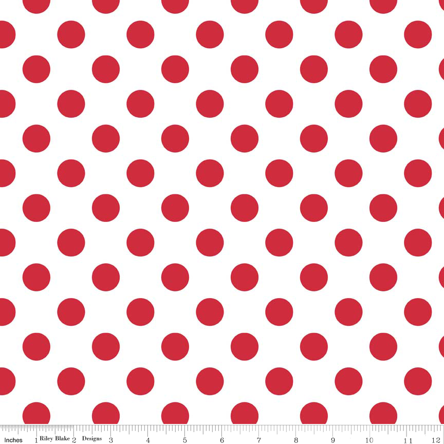 Dots 106 - 108 Wideback Red