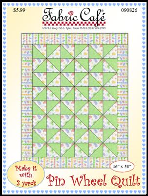 Pinwheel 3 Yard Quilt Pattern