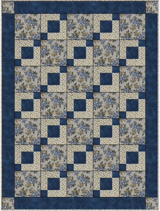 Stepping Stones 3 Yard Quilt Pattern