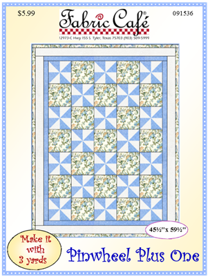 Pinwheel Plus 3 Yard Quilt Pattern