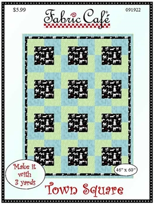 Town Square 3 Yard Quilt Pattern