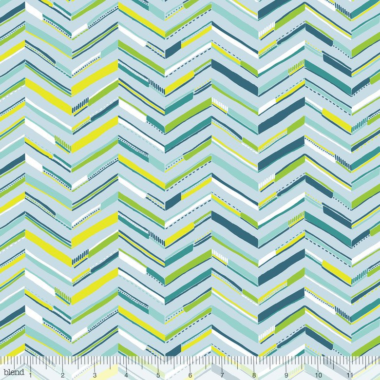 Sundaland Jungle Blue Tenun Chevron
