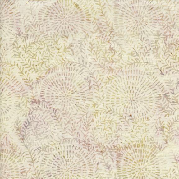 Coastal Mist Glaze Swirl Leaf Batik