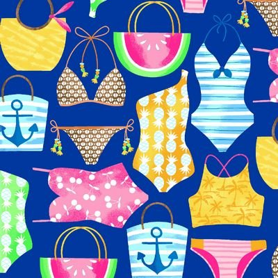 Just Beachy Royal Bathing Suits & Bags