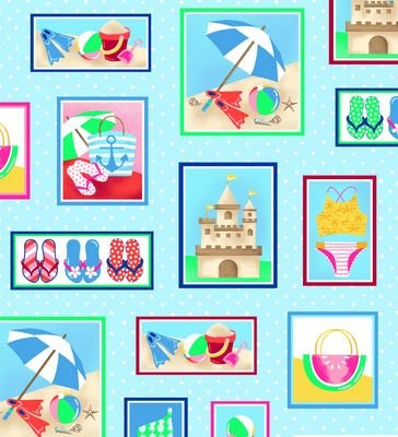 Just Beachy Turquoise  Beach Motifs in Boxes