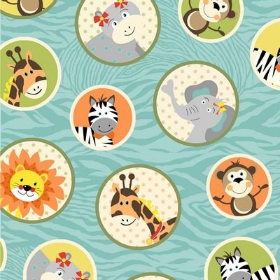 Bungle Jungle Blue Animal Circles
