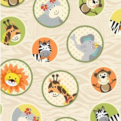 Bungle Jungle Cream Animal Circles