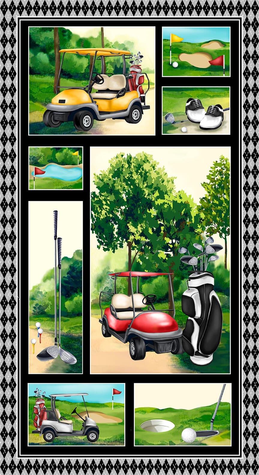 Back Nine 24 Golf Panel 1391P-66