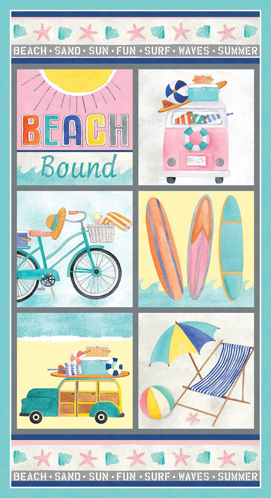 Beach Bound 24 Panel 1458P