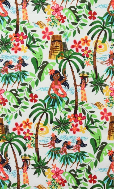 Leis Luaus and Alohas LAMINATED fabric