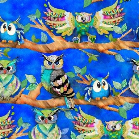 Go Owl Out Royal Owls on a Limb 16508-roy