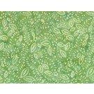 Green Confetti Leaves Batik