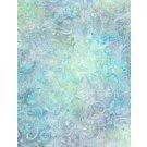 Light Aqua Floral Patchwork Batik