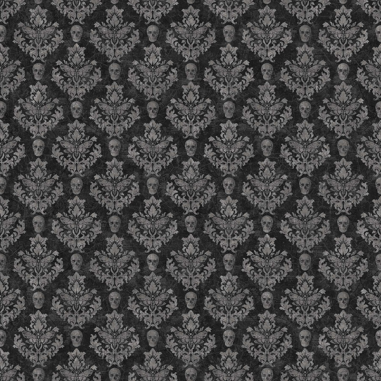 Wicked Black Damask 23444-99