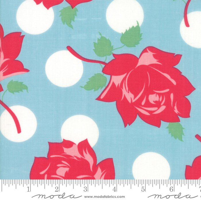 Cheeky Blue Raspberry Swell Floral 31140-14