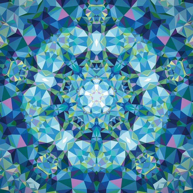 Gradients Kaleidoscope Panel Blue 33438-11P