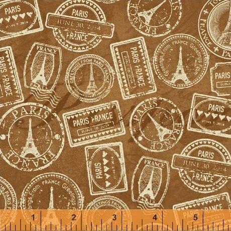 Destination Paris Luggage Stamps