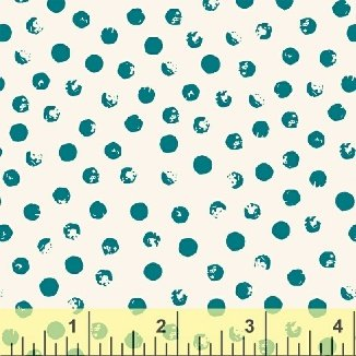 Clever Dots White w/Teal