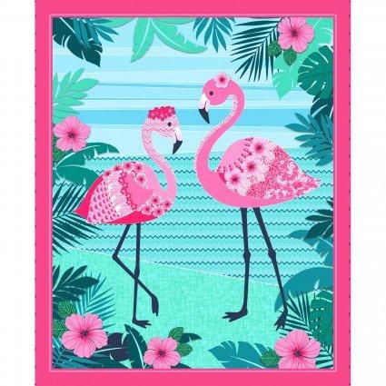 Flamingo Beach 36'' Panel