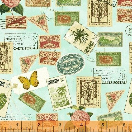 Paradise  50845-3  Postage Stamps Aqua