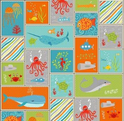 Big Splash Sea Life Patchwork