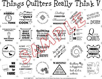 Things Quilters Really Think 5 Panel (white)