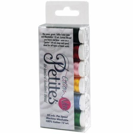 Sulky 12WT Cotton Petite Thread 6 Pack Set- Best Selling Colors  712-01