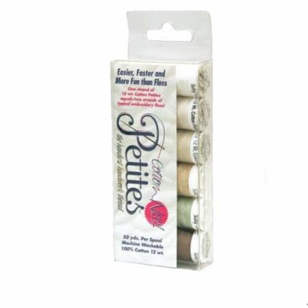 Sulky 12WT Cotton Petite Thread 6 Pack Set- Neutrals 712-06
