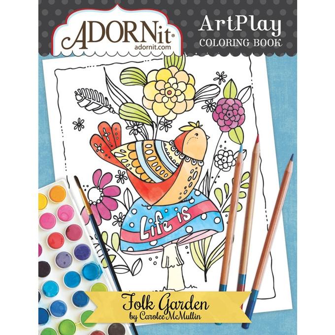 Folk Garden Coloring Book
