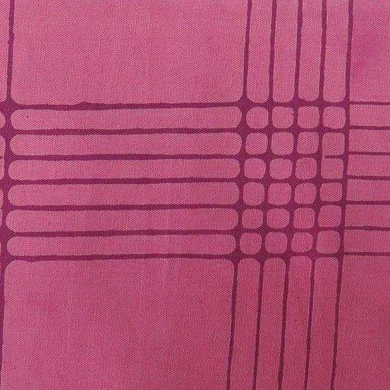 Chroma Cerise Plaid Batik