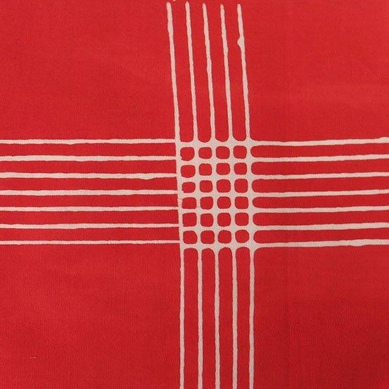 Chroma Scarlet Plaid Batik