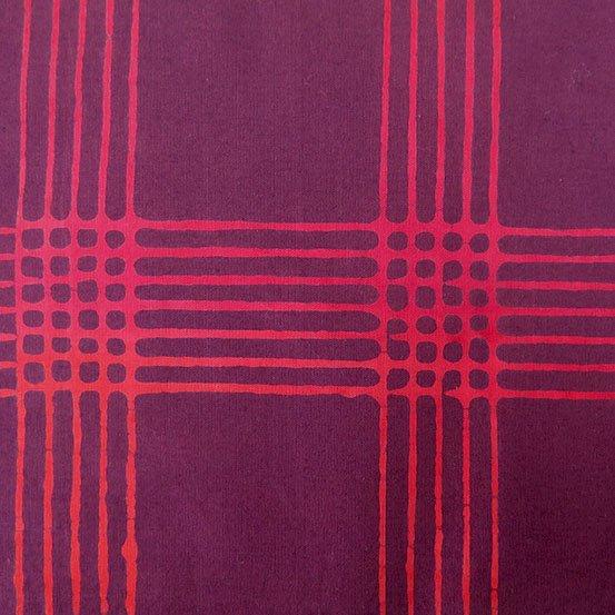 Chroma Plaid Wine Batik