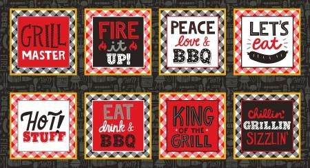 Peace Love BBQ 24in Panel 9505-98P