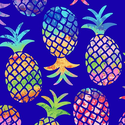 Tropical Breeze Pinapple Paradise Blue 9715-55