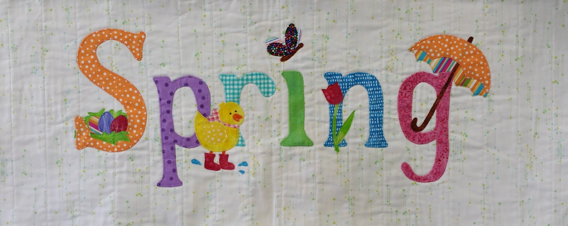 A Year in Words Fabric Kit, April, Spring