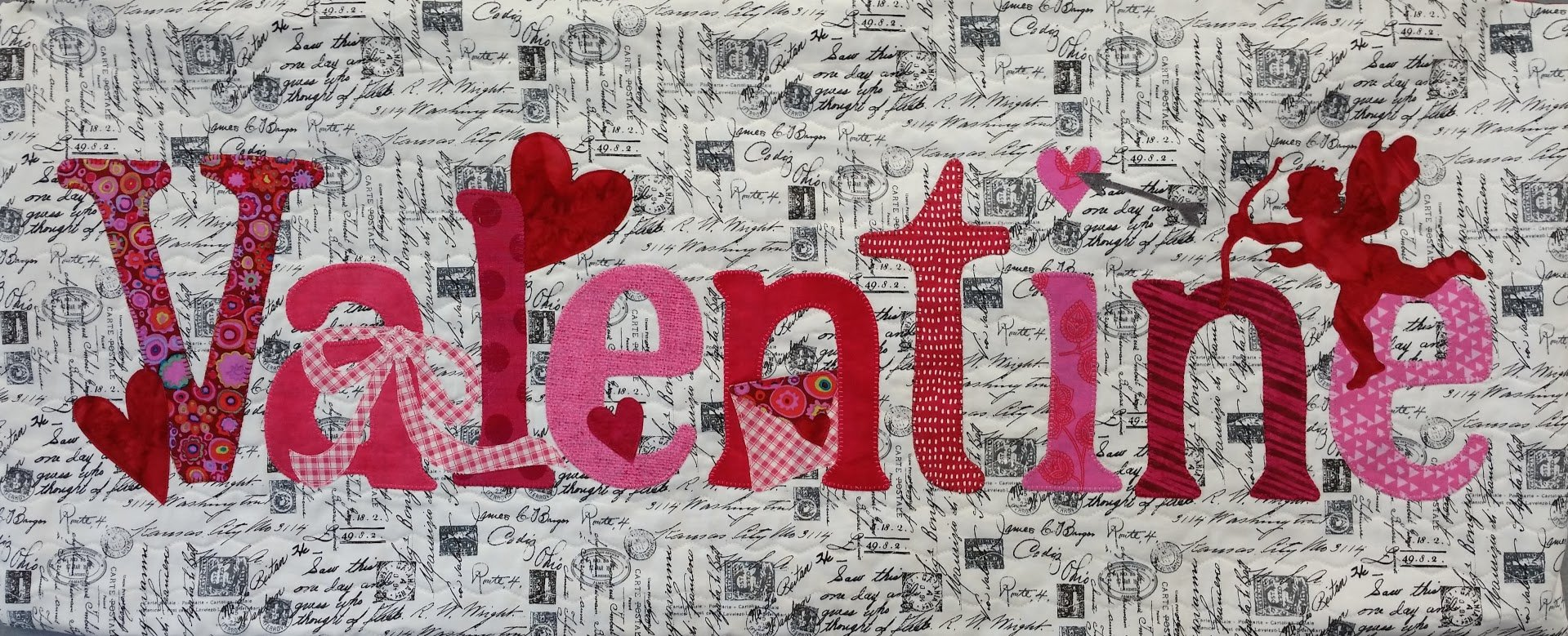 A Year in Words February Valentine Pillow Fabric Kit