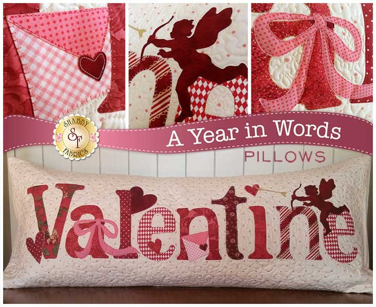 A Year in Words February Valentine Pillow Pattern