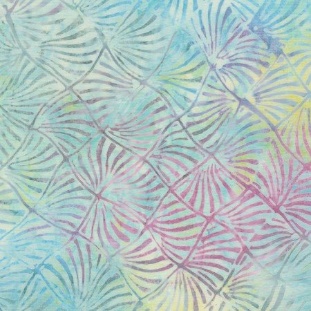 Tonga Swim Twirling Leaves Sky Batik 7675-sky