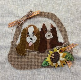 Basket of Bassets Wooly Block Adventure Pattern Only
