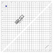 Bloc Loc Half Square Triangle Ruler 12.5