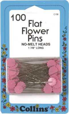 Pink Flat Flower Pins