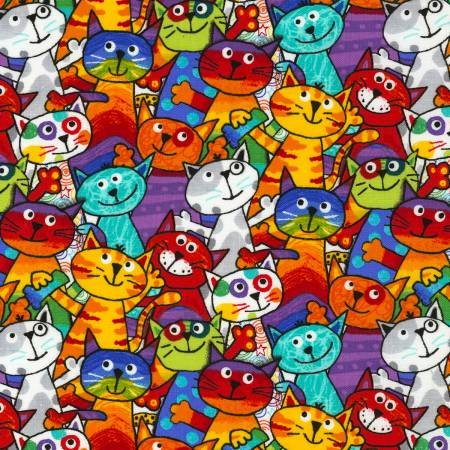 Stacked Cats  C6341-multi