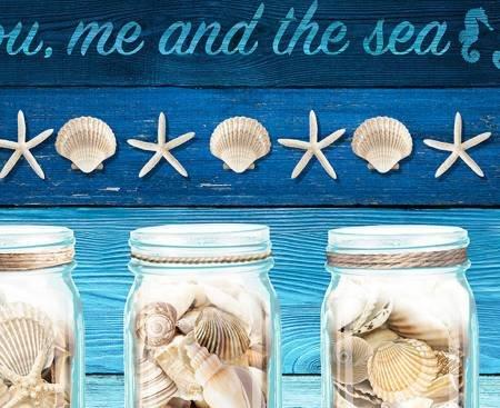 Take Me to the Beach Border Stripe 6745-blue