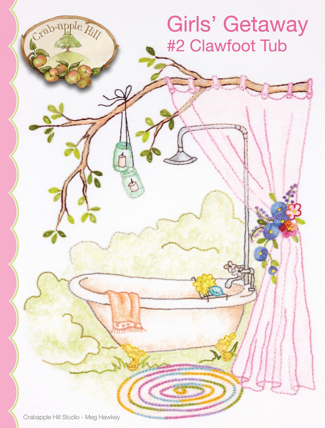 Girl's Getaway #2 Clawfoot Tub Pattern