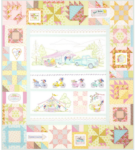 Girl's Getaway #6 Quilt Assembly Pattern