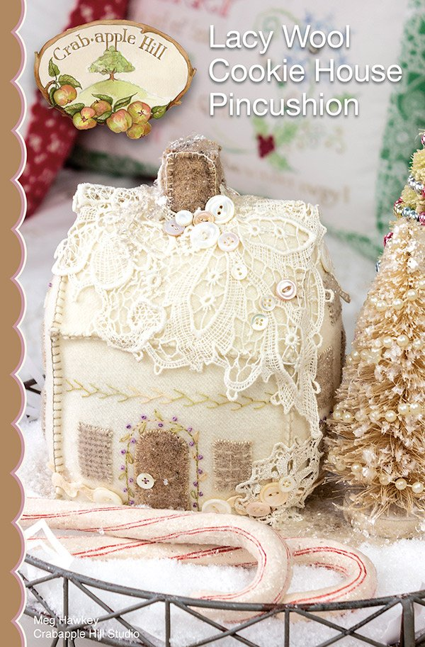 Lacy Wool Cookie House Pincushion Pattern