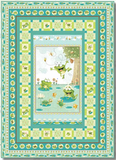 Frogland Friends Quilt Kit