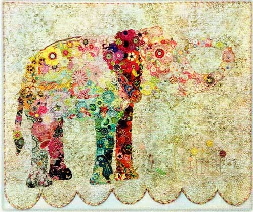 Lulu the Elephant Collage Pattern