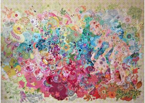 Wildflower Mix Collage Pattern