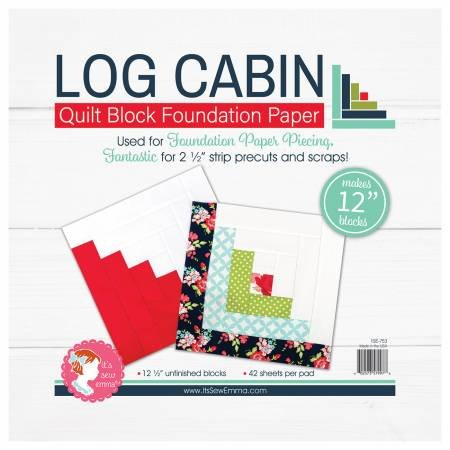 Log Cabin Block 12in Foundation Paper Pad